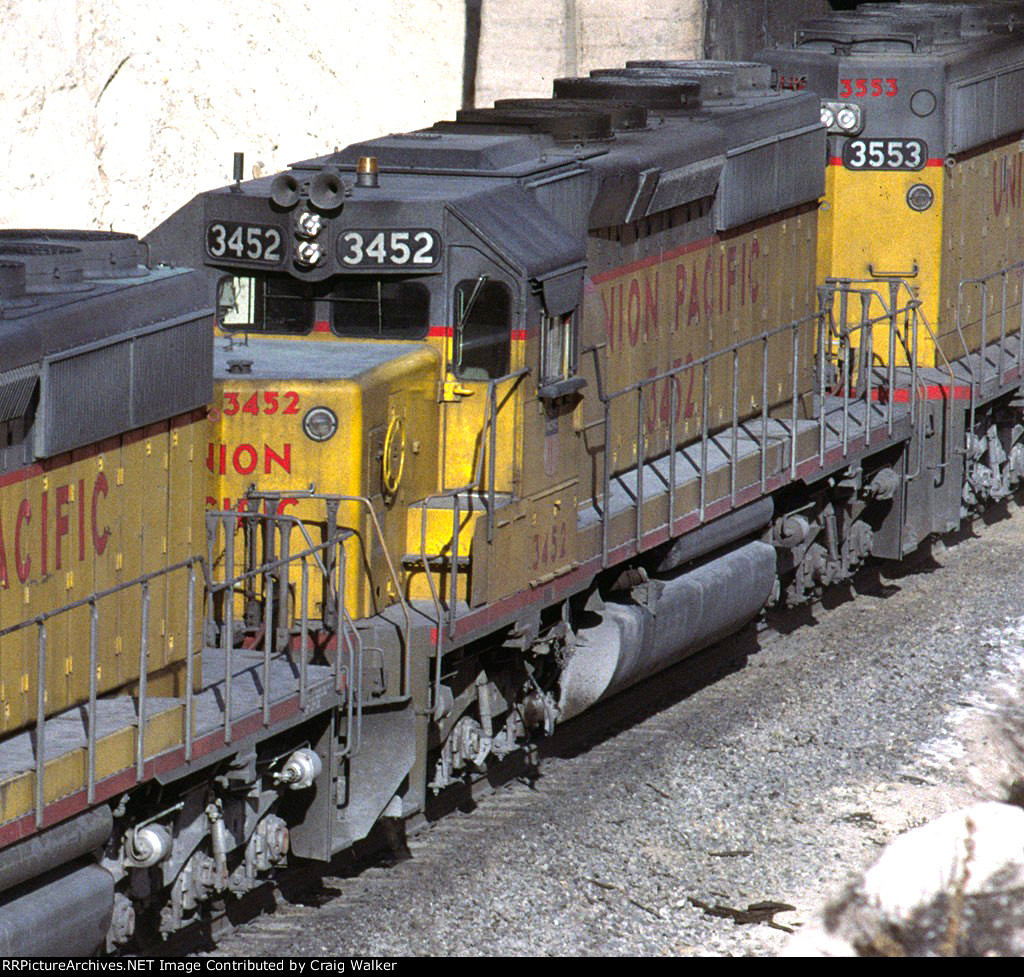 UP 3452 - Alray, Cajon Pass, CA - 11/8/80