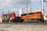 IC 9605 and BNSF 9398 at the CN Grand Yard