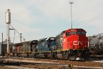 A neat lashup at the CN Decatur yard today...