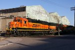 BNSF Y-LAC0204 Yard Hopper shoving in Malabar