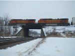 BNSF 5484 and 4829