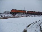 BNSF 5456 and 1058