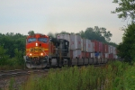 BNSF 4612 leads westbound stacks