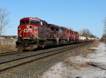 CP 9675 in the siding at Nissouri.