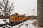 Northbound UP Special Business Train - The 2011 Super Bowl Special