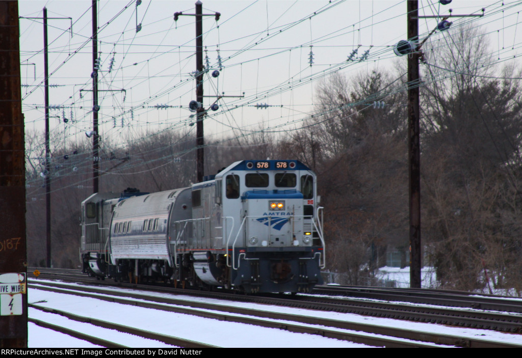 Amtrak KP701 with Amtrak GP15 #578 lead