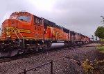 BNSF 9479.  Dodging raindrops with the camera phone