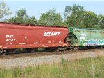 BNSF and BN covered hoppers