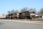 NS 213 south w/UP 1982 trailing