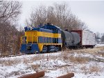 CO&E #1161 Pulling A Short Train In The Snow