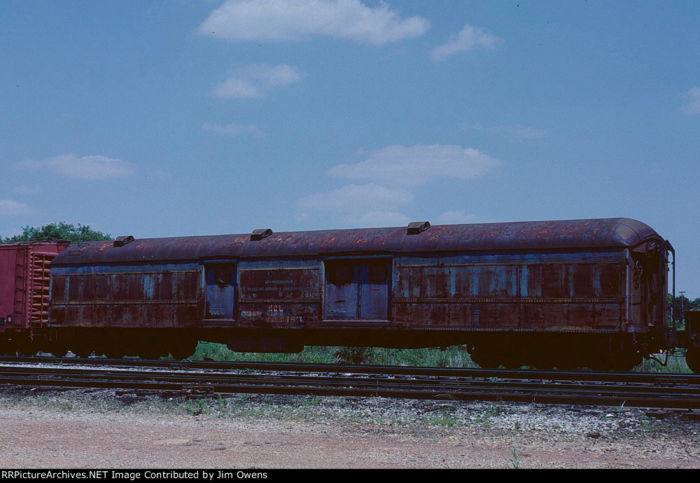 An old SCL baggage car in MOW service.