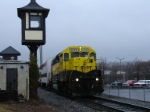 Marathon excursion train waits in Cortland to head south to Marathon