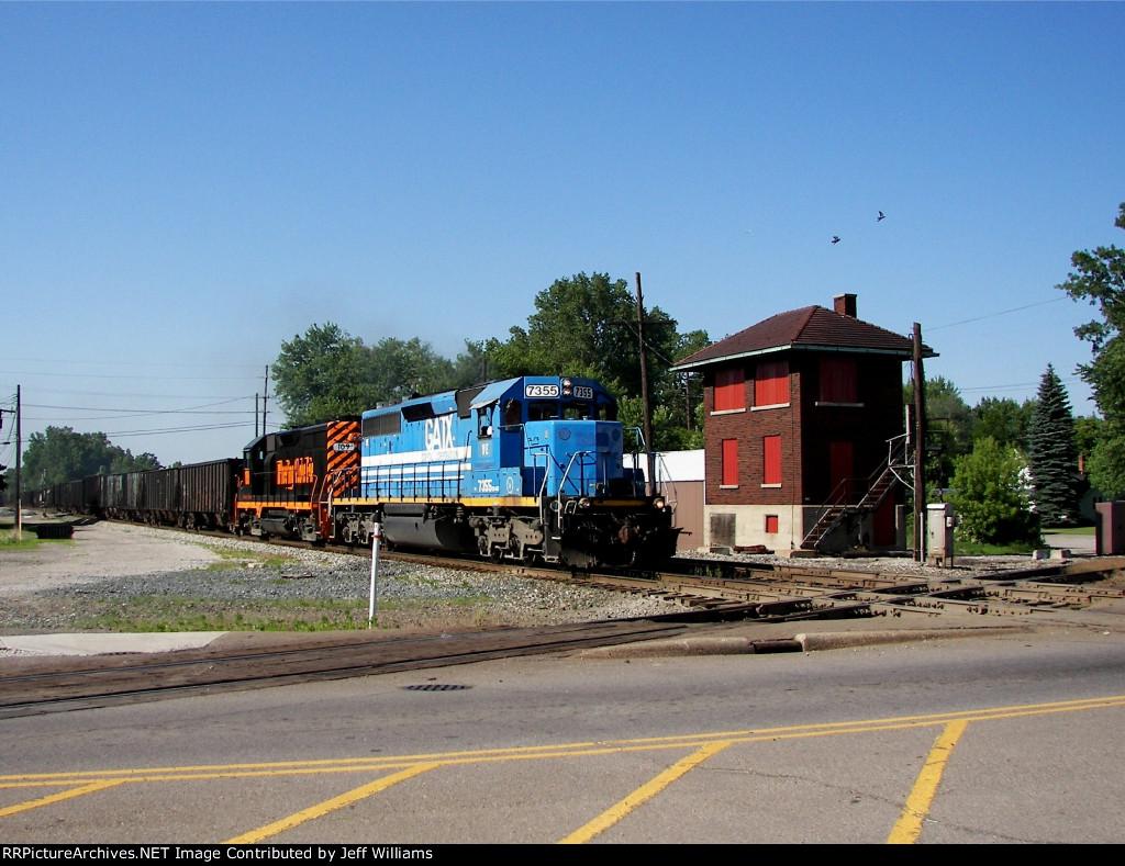 Empty Southbound Coke Train