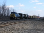 CSX Q159 starts down track 4 in towards DeWitt Yard to work