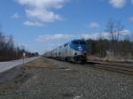 Late running(no surprise!) Amtrak # 48 blasts eastbound