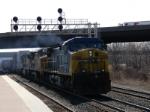 CSX Train Q156 rumbles past CP-291 at the Amtrak Station