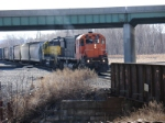 NYSW SY-1 comes off home rails with traffic for interchange at De Witt yard