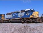 CSX 8153 on a cold mornin