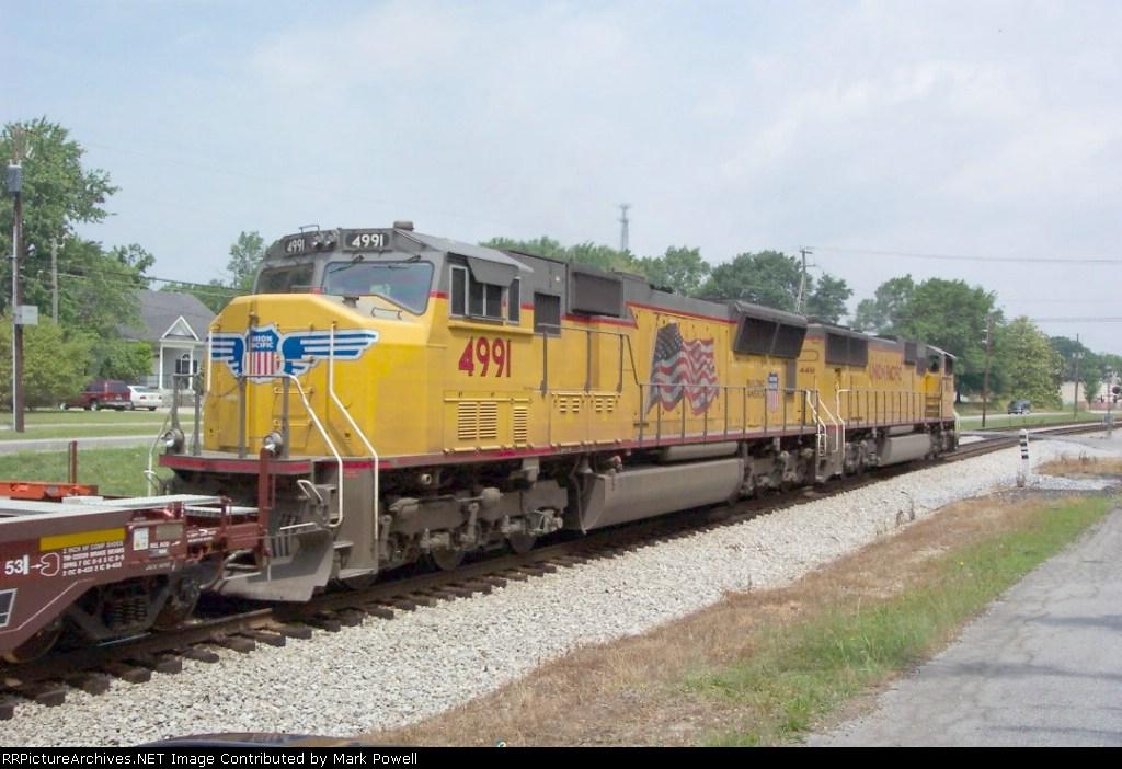 UP 4991 (Q124) heading north