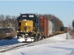 CSX 2680 heads west with 16 cars in tow