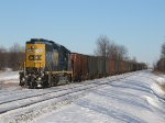 Almost out of fuel, 6066 sits in the siding with D707-03