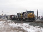 CSX 5344 & 71 start their westbound trip over the Grand Rapids Sub with Q335-16