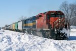 Eastbound CP Freight picking up speed
