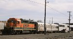 BNSF 2803 and the track inspection train