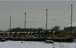 Stored BNSF units in Topeka