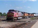 BNSF #641 Leading A Trailer Train