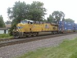UP 7772 leading an intermodal @ Rochelle, IL