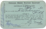 Chicago Union Station Company - Certificate of Examination 1960