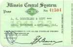 IC Illinois Central System Annual Pass - 1941-1942-1943