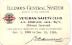 IC Illinois Central System Safety Award 1936