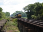 CSX 686 crossing the Montezuma Trestle WB!