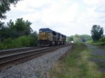 CSX 695 on the tail-end of this WB light engine move.