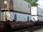 Containers on a WB CSX COFC Train