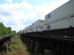 CSX INTERMODAL Containers as far as the eye can see heading WB