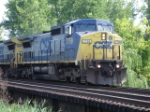 CSX 7799 & CSX 7668 crossing the Montezuma Trestle
