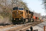 Two Union Pacific units lead a short transfer