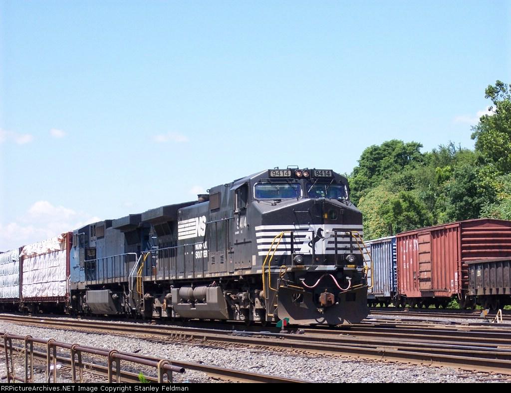 Norfolk Southern C40-9W  9414 Works Abrams Yard.  7/13/05