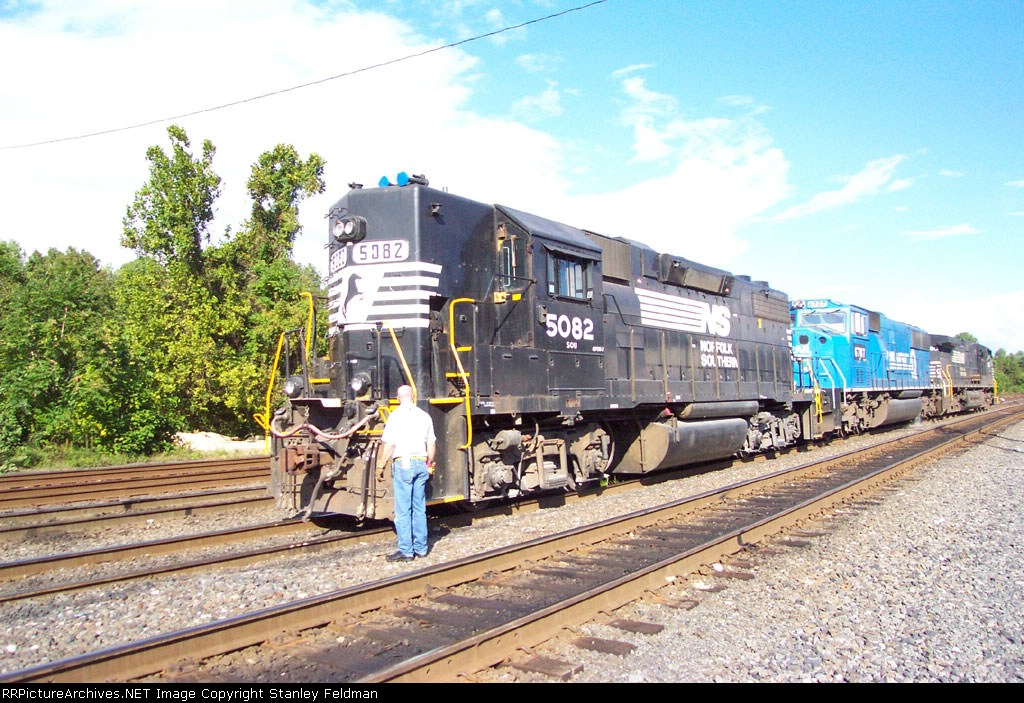 NS 5082 Being coupled to other engines at Abrams Yard. 9/27/03