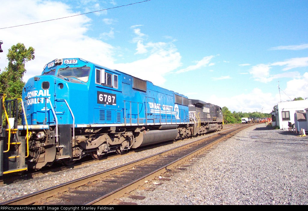 NS SD 60 6787 at Norfolk Southern Abrams Yard.  9/27/03