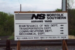 Norfolk Southern Abrams Yard Sign ( Former Conrail & Reading Company )