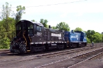 NS SW 1001's 2101 & 2107 at work in Abrams Yard.  5/20/03