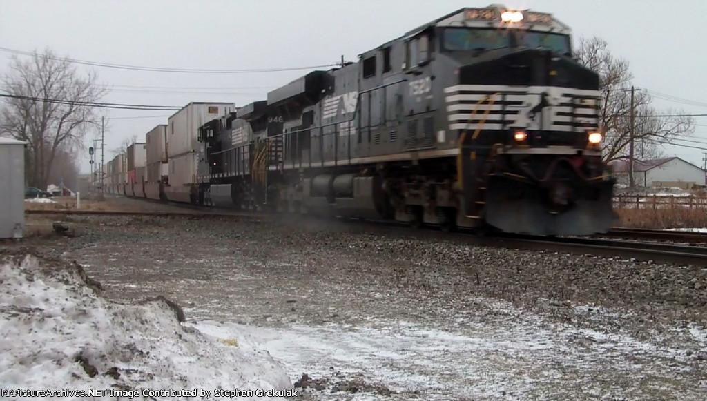 NS 7520 Thunders Across the Blasdell Diamond & Kicks up Snow