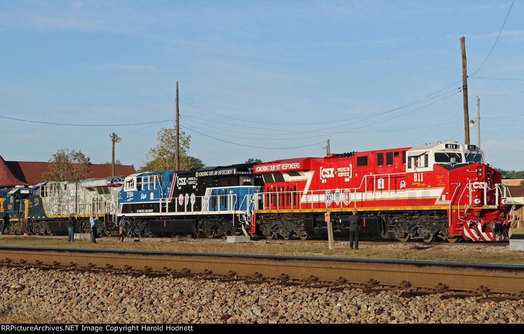CSX 911, 3194, & 1776