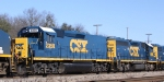 CSX 2358 & 6958 display their fresh paint on train Q400