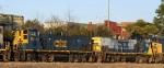 CSX 1188 & 1185 come in on train F768
