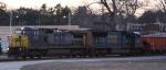 CSX 7312 leads train K957 eastbound at sundown